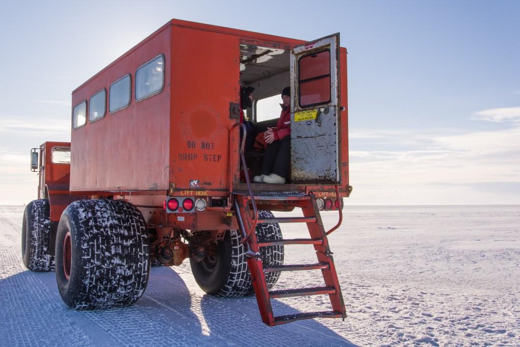 Delta parked on sea ice