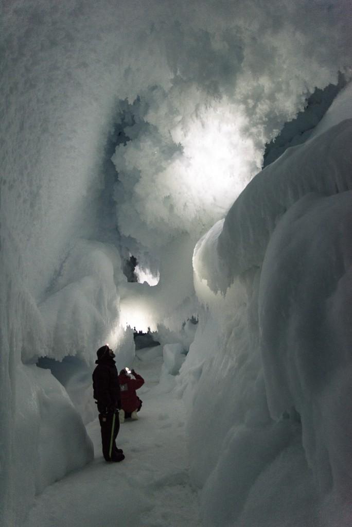 Inside Erebus ice cave