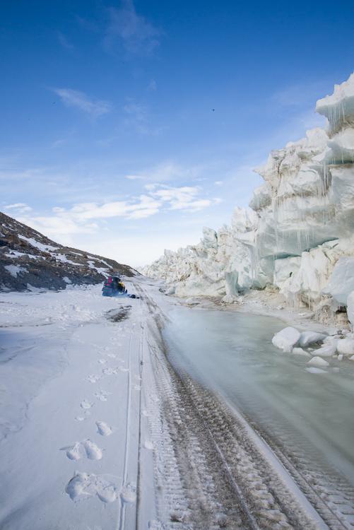 Pressure ridge near Double Curtain Glacier