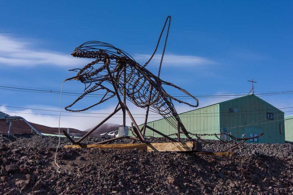 Whale sculpture, McMurdo Station