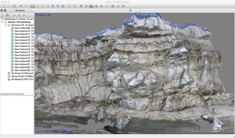 3D file of pressure ridge