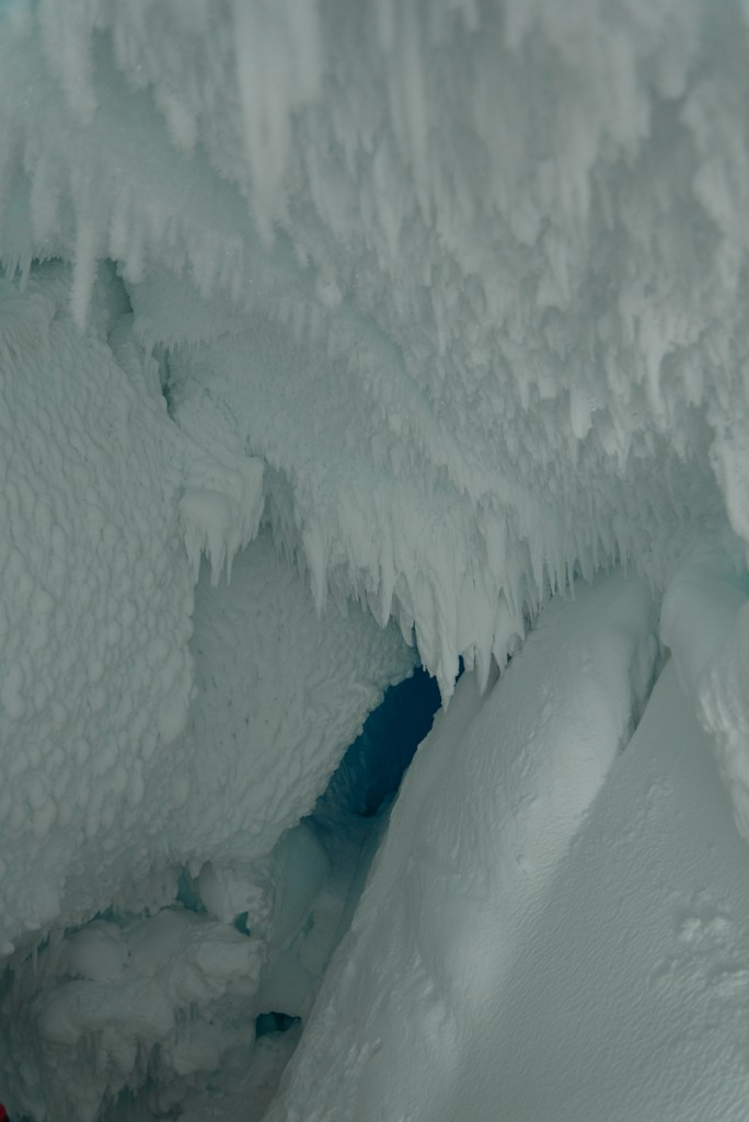 Interior of Erebus ice cave