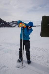 Drilling in Antarctic sea ice