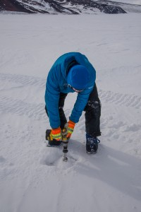 Drilling Antarctic sea ice