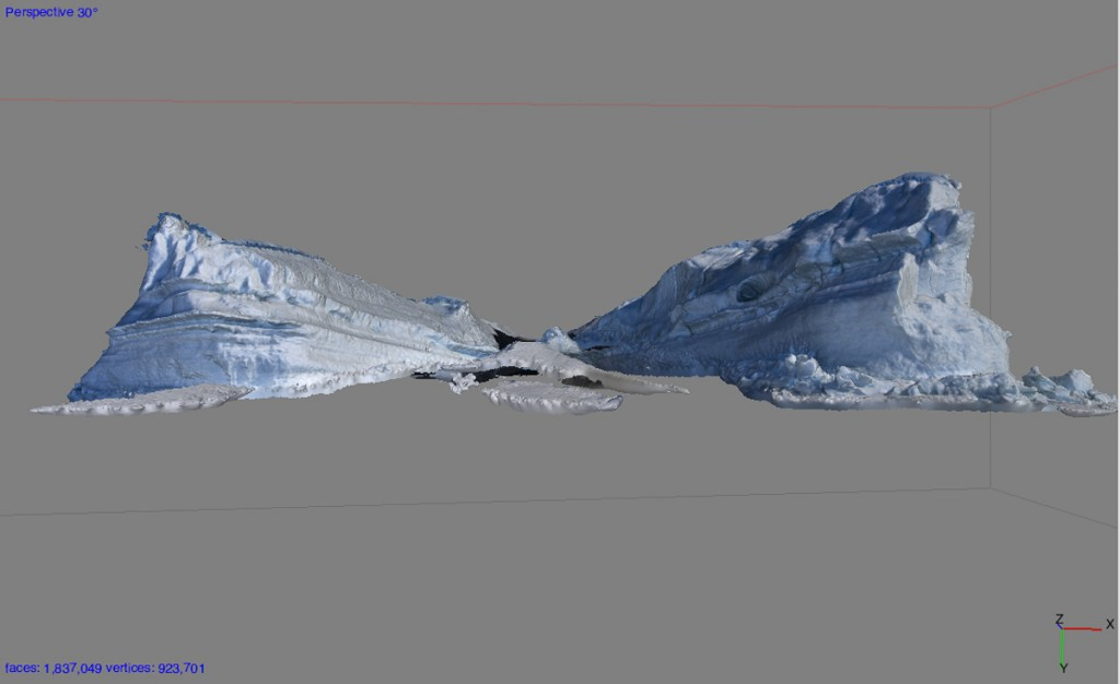 Iceberg after 3D processing