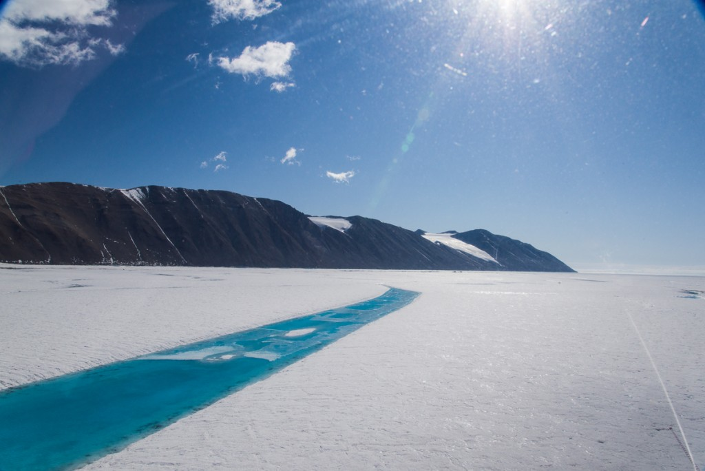 Melt pool in sea ice, McMurdo Sound
