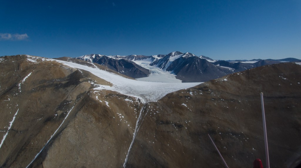 Helicopter view of Canada Glacier