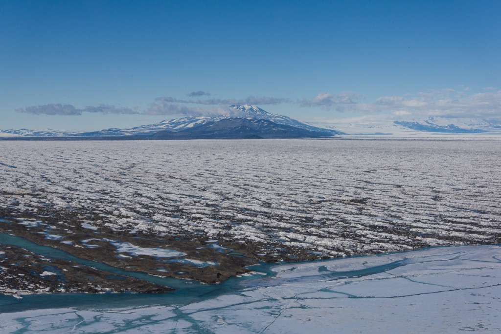 Sea ice meets ice shelf, McMurdo Sound