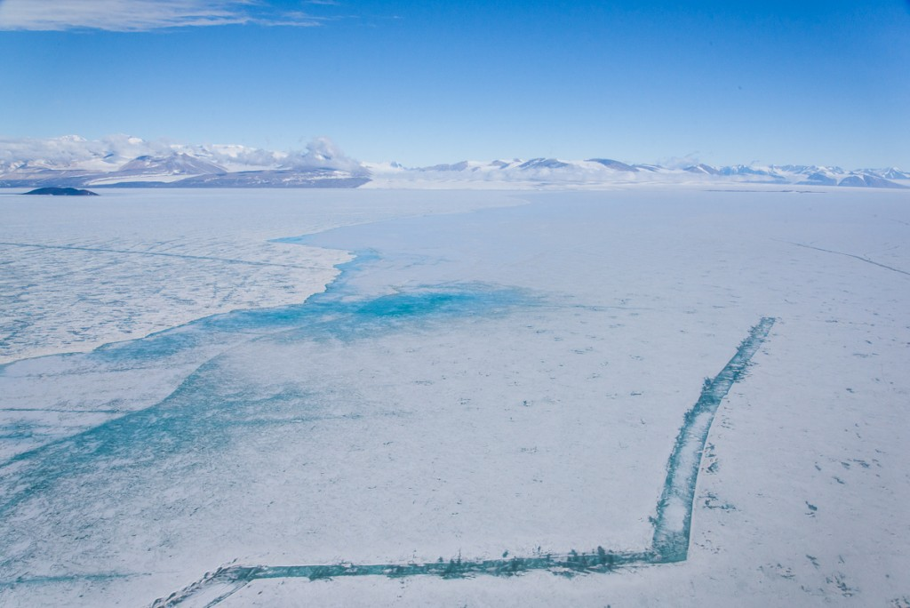 Cracks in sea ice, McMurdo Sound