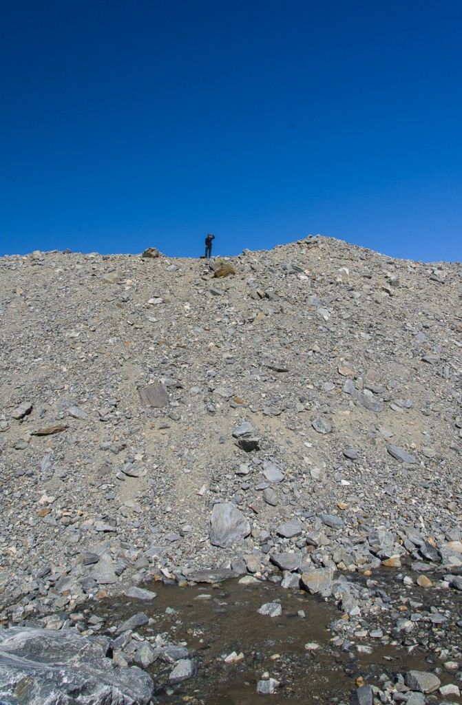 Gravel hill near Suess Glacier and Lake Hoare