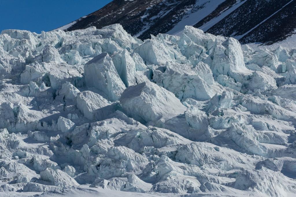 Canada Glacier ice falls detail