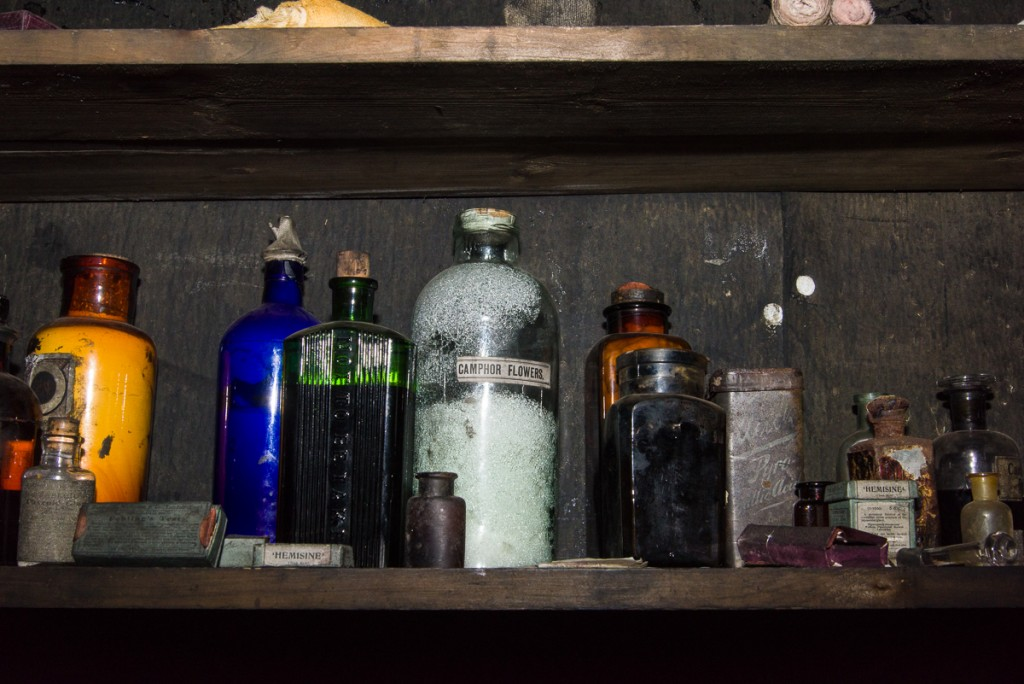 Medicine bottles, Cape Evans hut.
