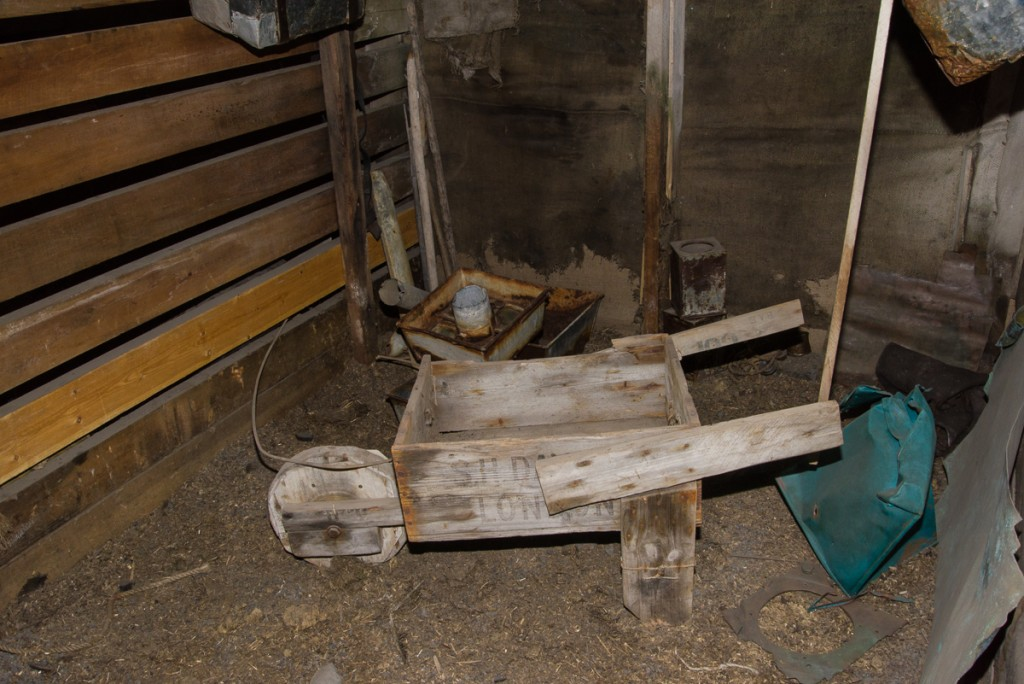 Wheelbarrow, Cape Evans hut