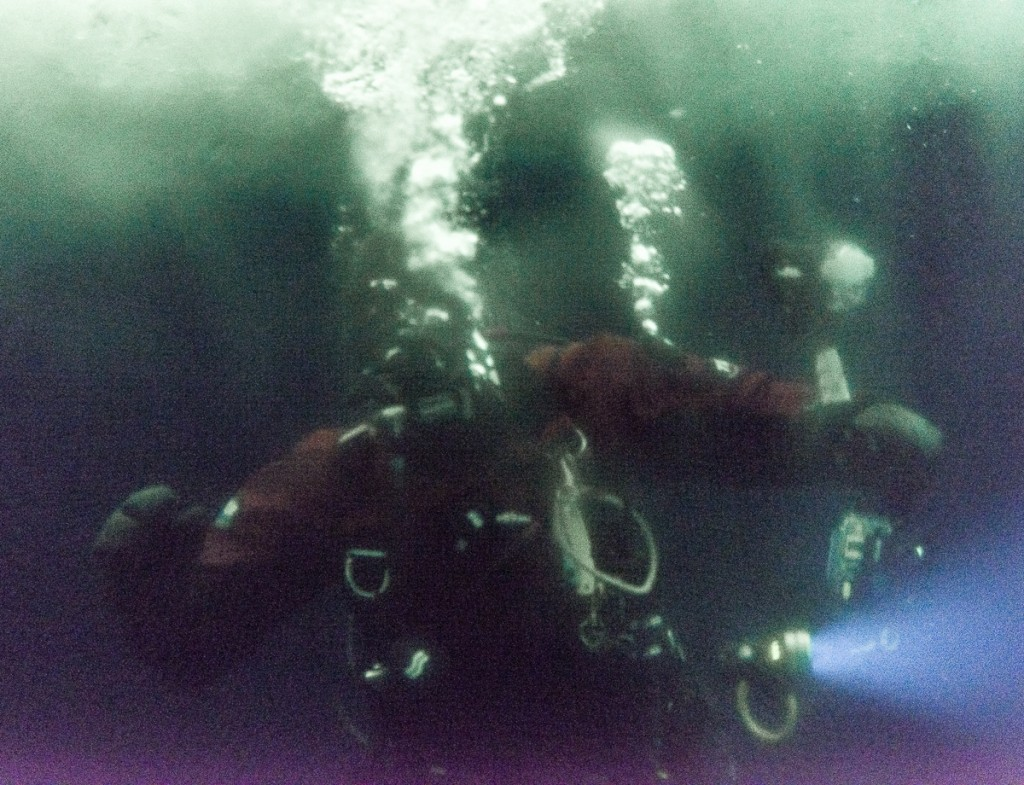 Diver outside Ob Tube
